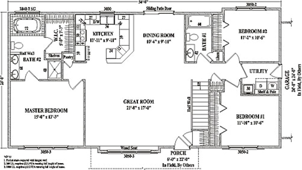 small ranch house floor plans with photos