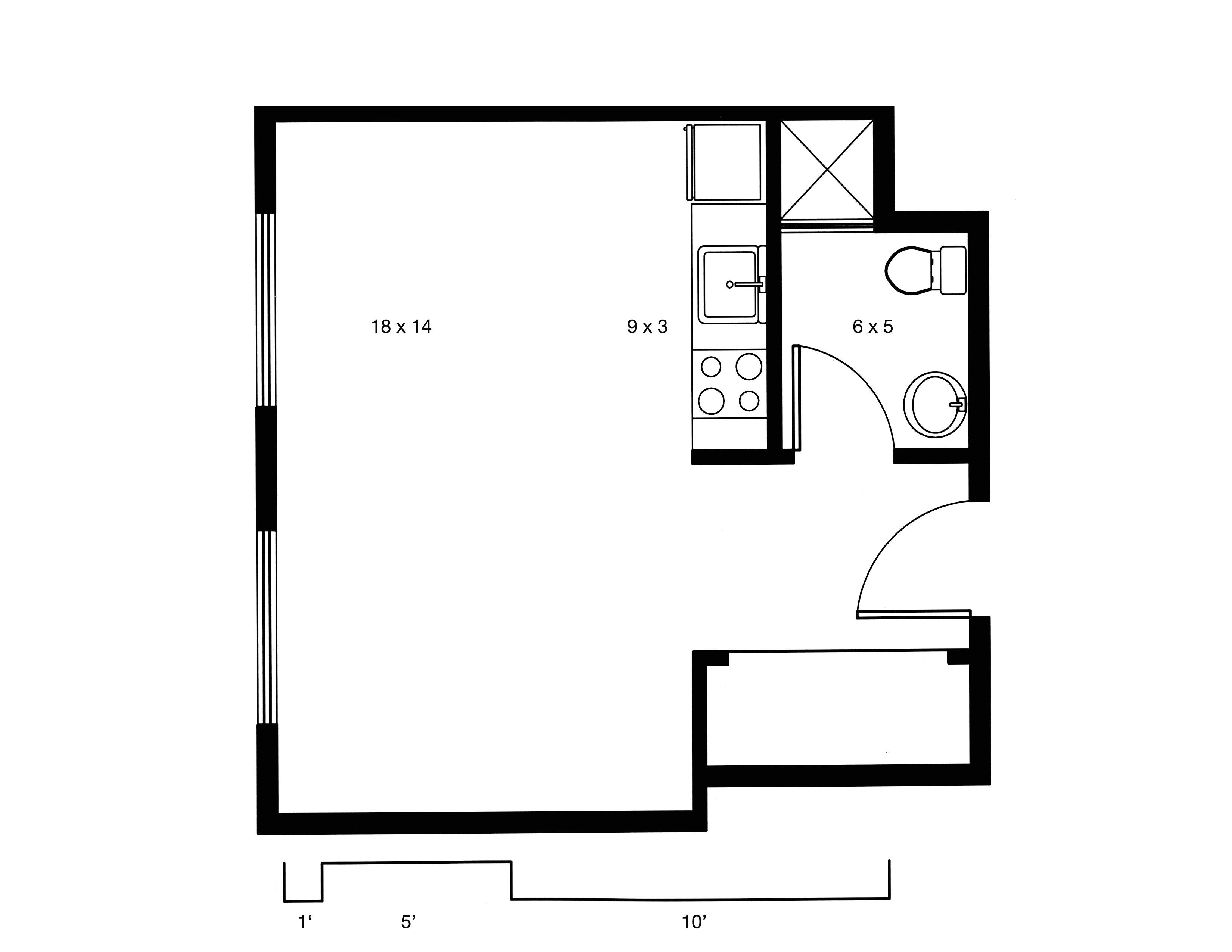 small studio floor plans