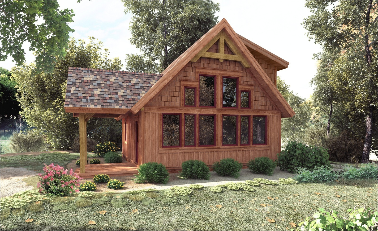 small timber frame house plans uk