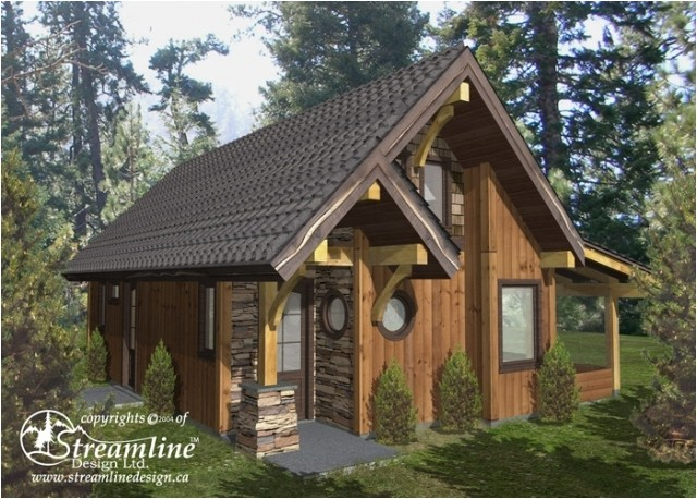 chelwood cabin timber frame plan