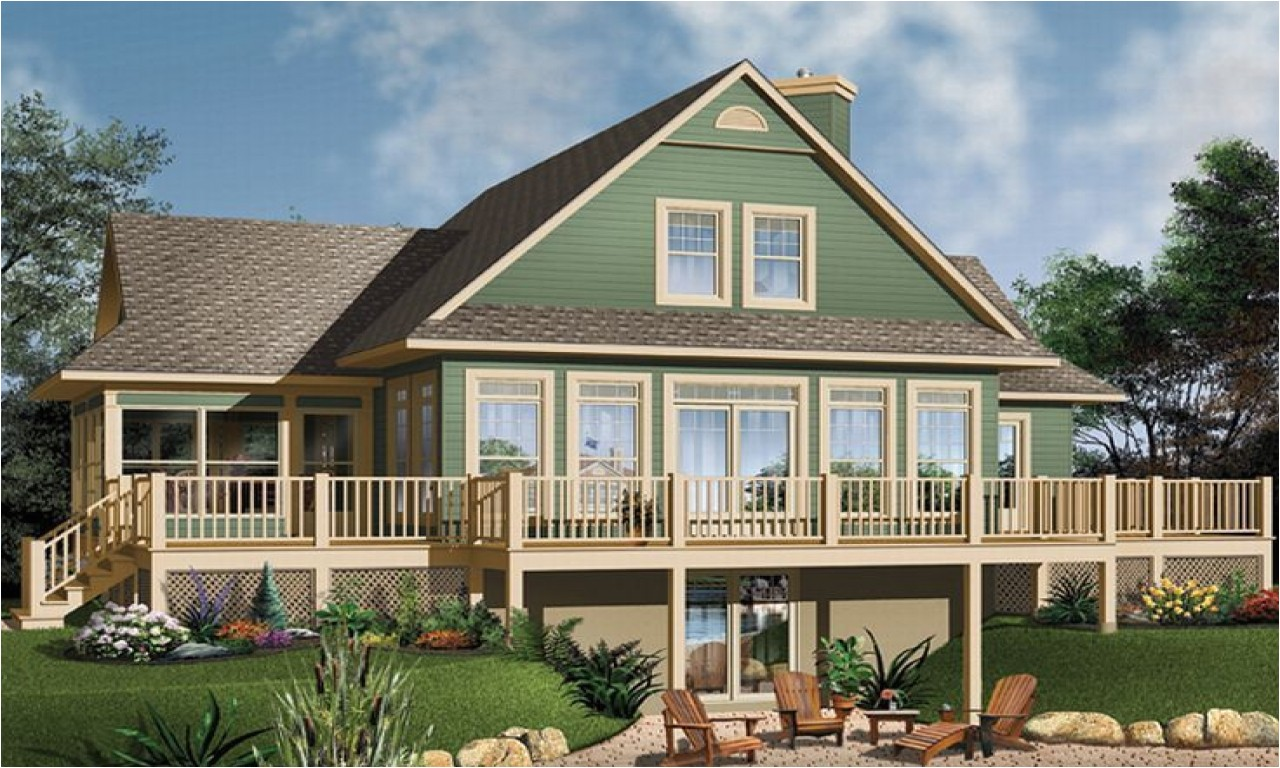 a23cda45167fd347 waterfront house floor plans small house plans walkout basement
