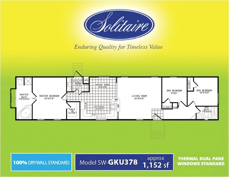 solitaire homes single wide floor plans