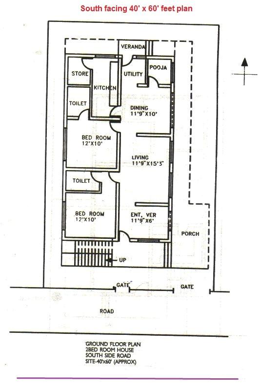 south facing house plans according to vastu shastra in hindi
