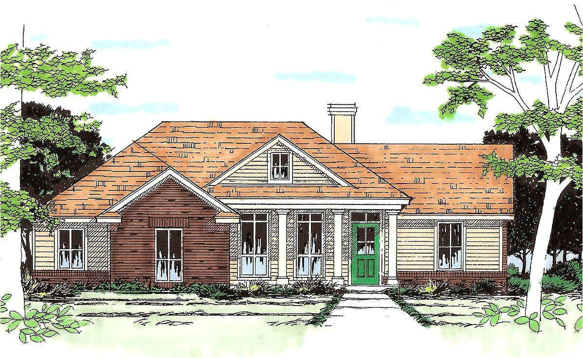 southern ranch house plan 31098d