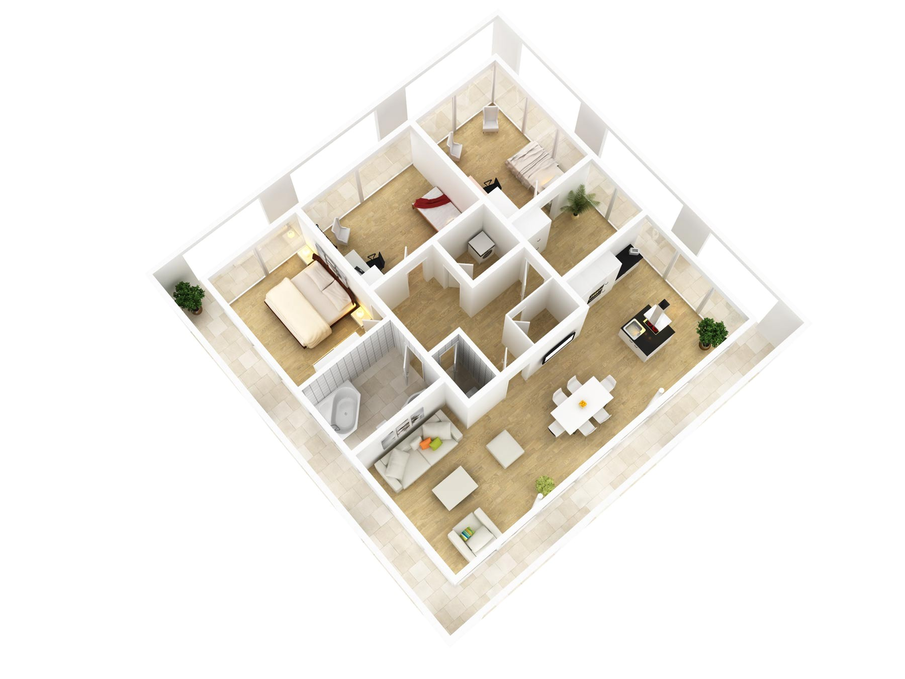 spacious 3 bedroom house plans