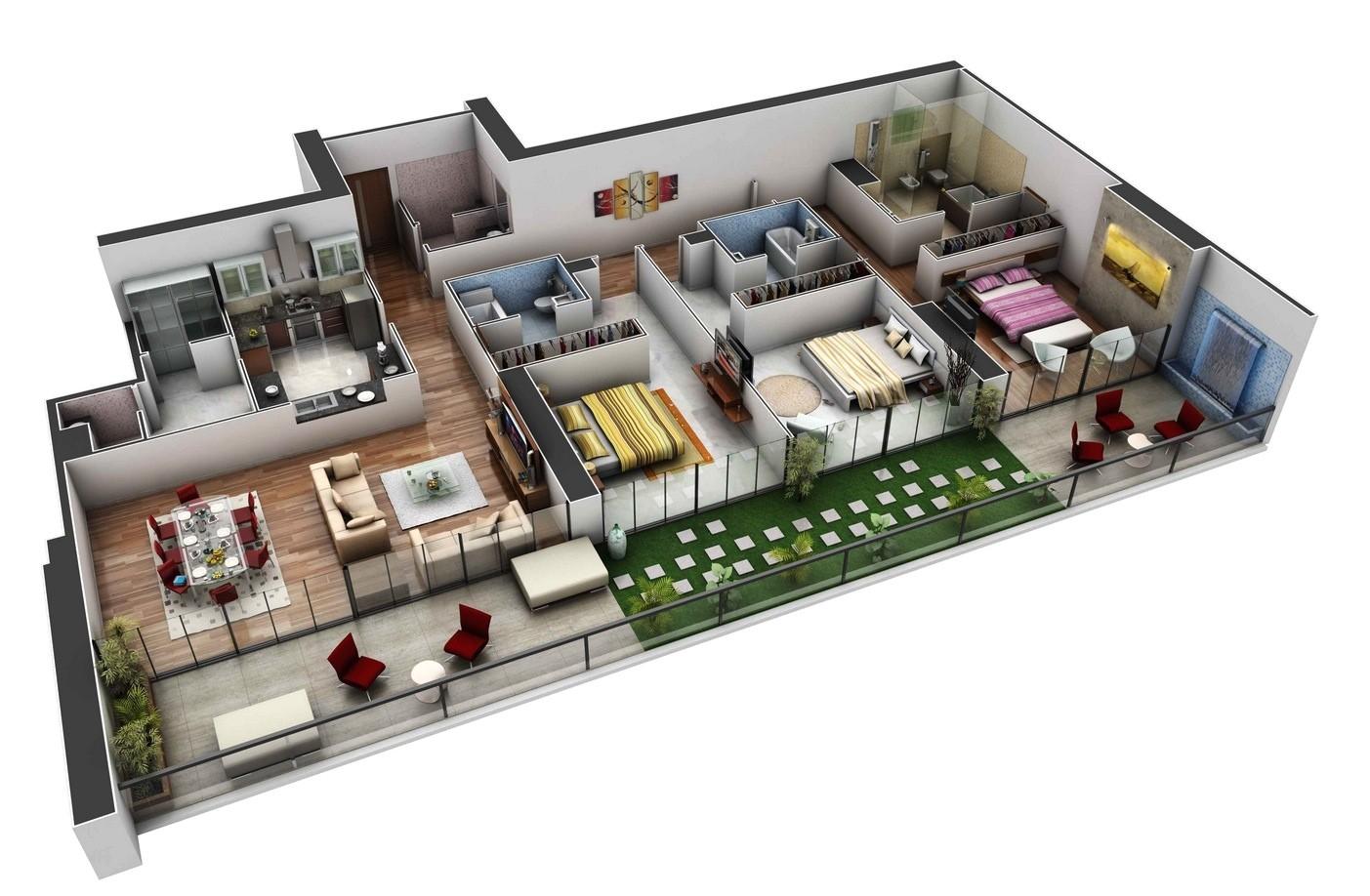 Spacious 3 Bedroom House Plans Spacious 3 Bedroom House Plans Interior Design Ideas