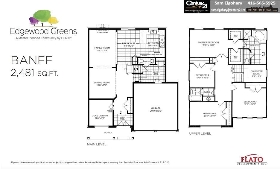 Spallacci Homes Floor Plans Edgewood Greens Homes Dundalk Vip Access Condos Deal