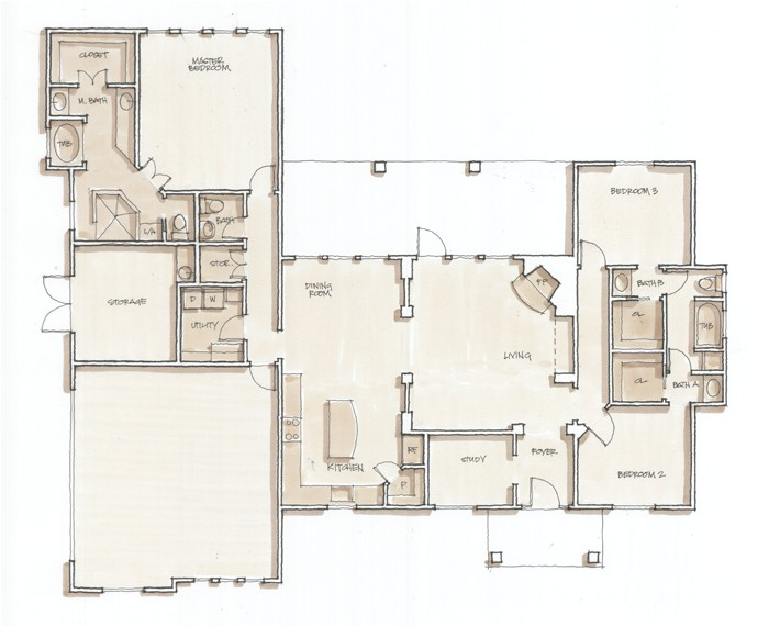 Spec Home Plans Monteola Mullaney Contracting Monteola Spec House Floor
