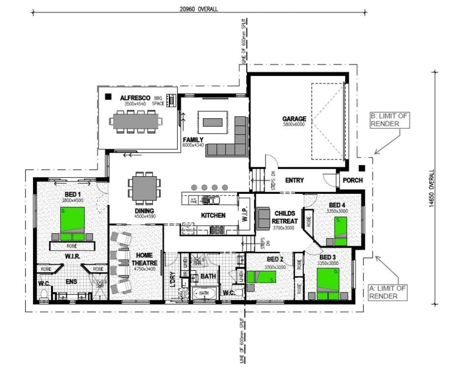 australian split level house plans