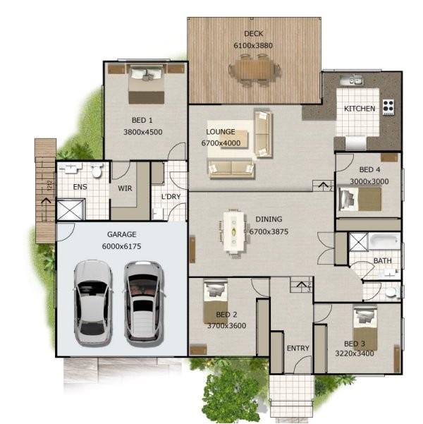 266kr 1storey home plans