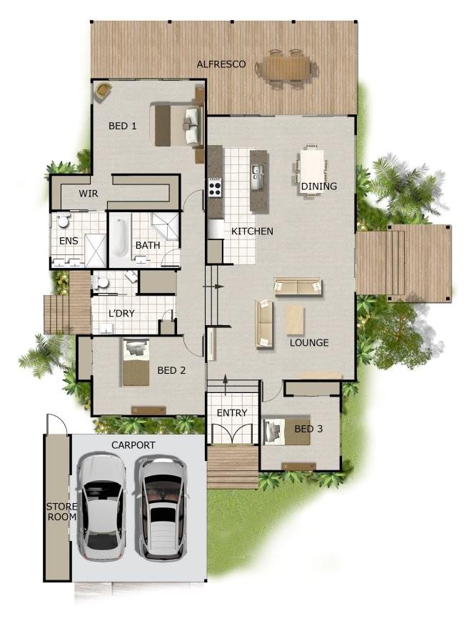 Split Level Home Plans Australia Split Level House Plan On Timber Floor Australian Houses