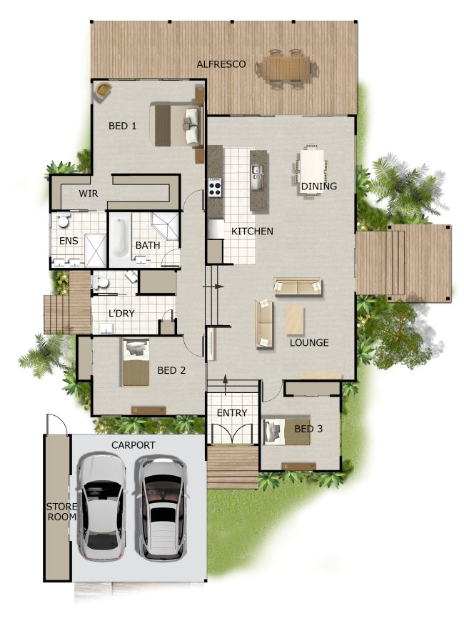 242 1storey home plans