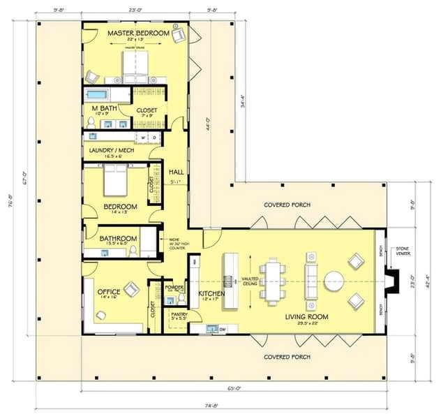 ranch home floor plans split bedrooms