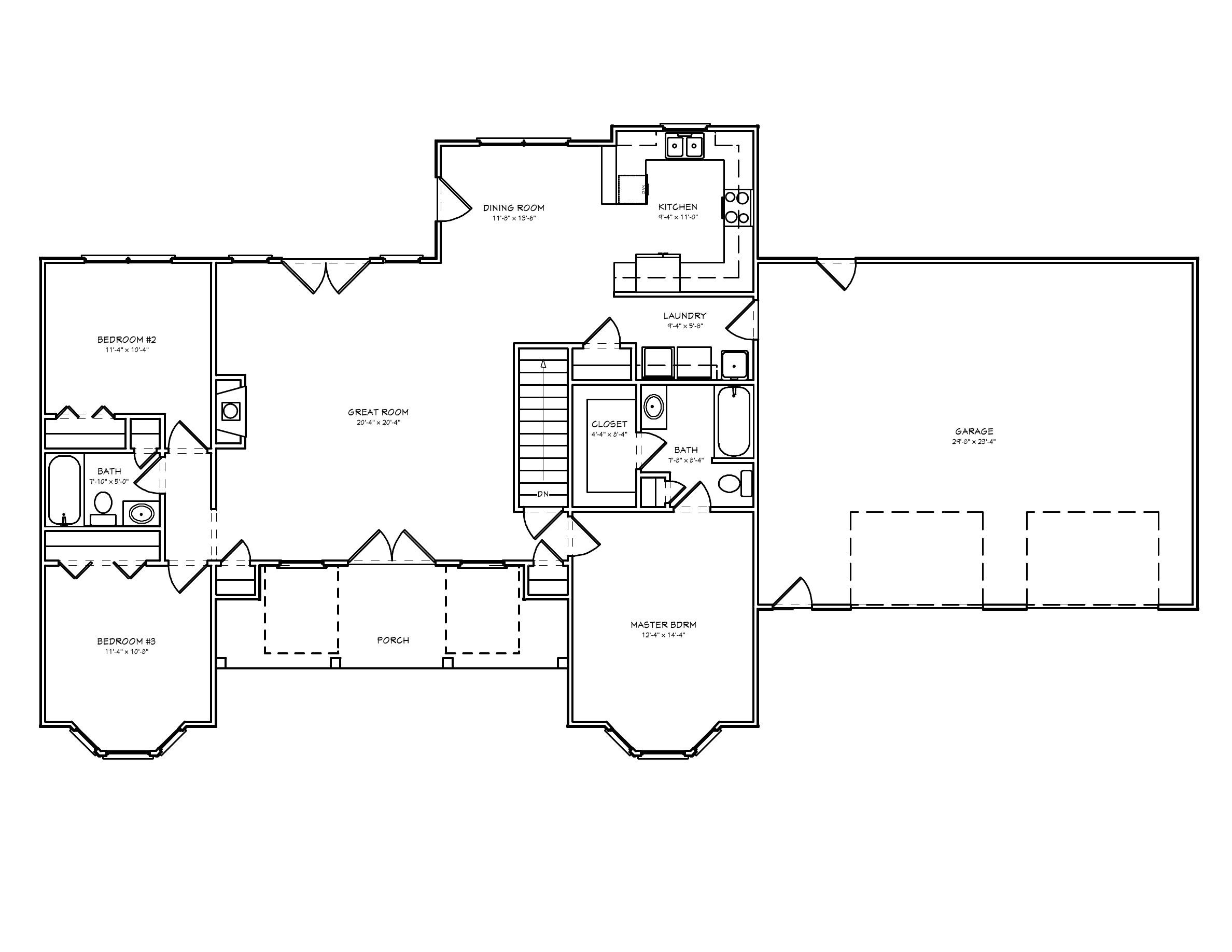 split bedroom house plan d67 1528