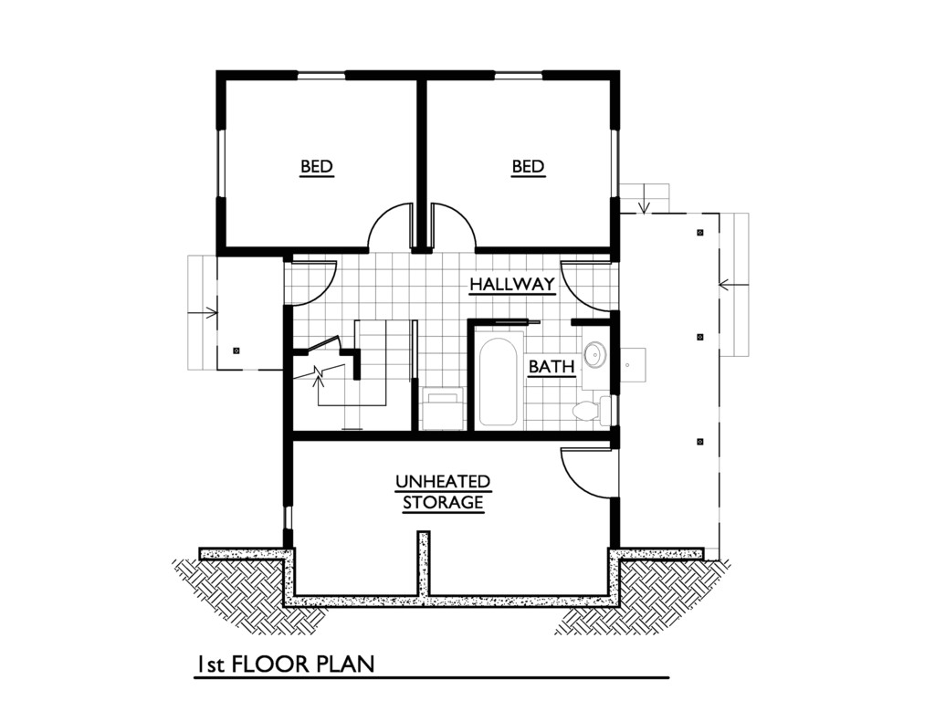 1000 sq ft house plans 3 bedroom