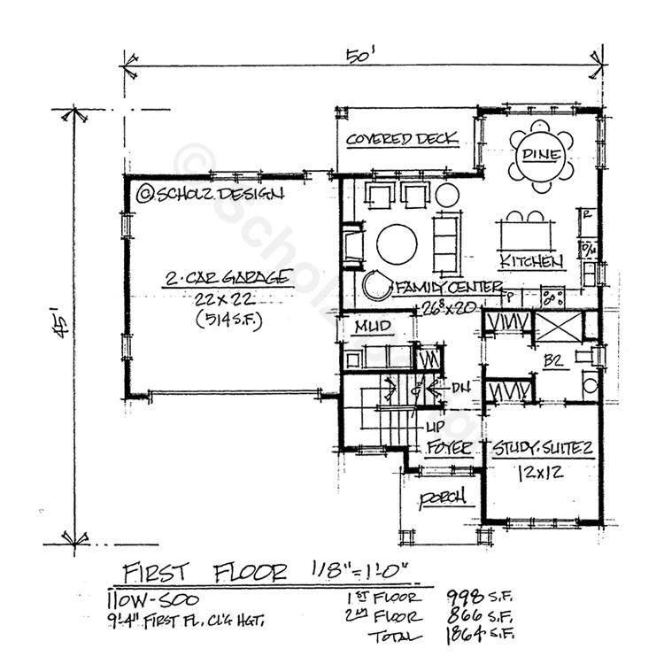 standard house plan dimensions
