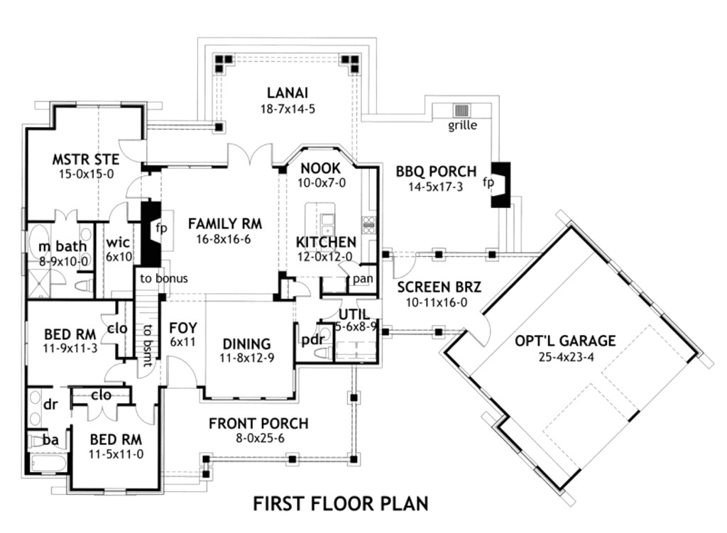 starter home 3 bedroom house plan