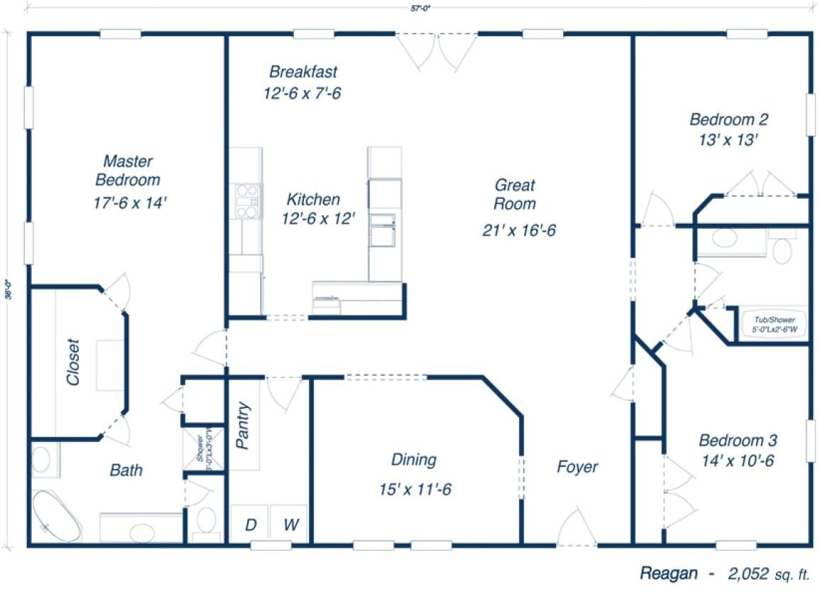 40x60 metal building house plans