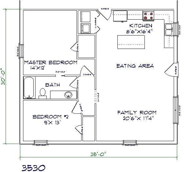 1500 sq ft barndominium