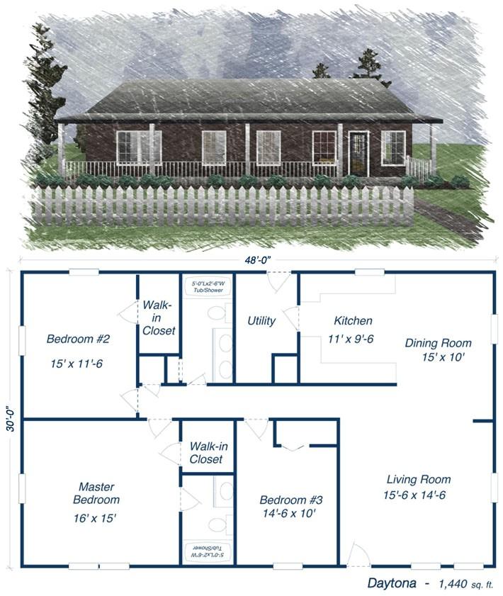 metal homes floor plans