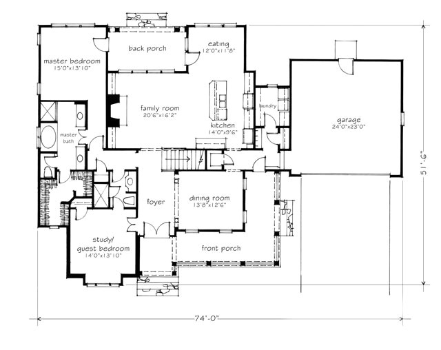 stone creek house plan images
