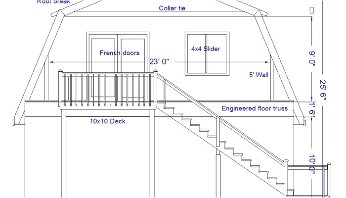 straight roof line house plans