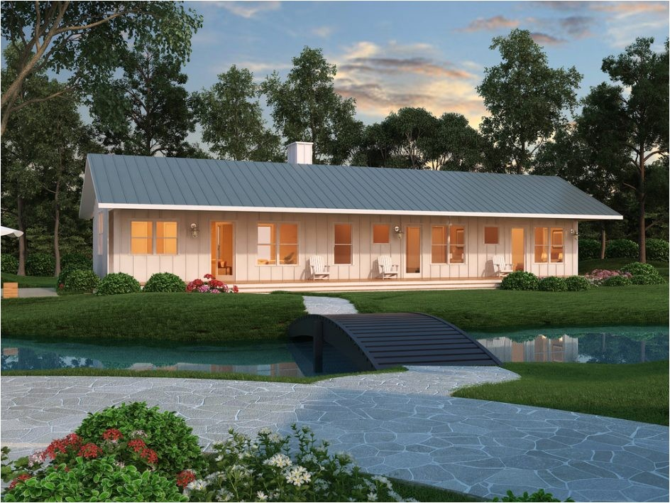 ranch style home design roof line