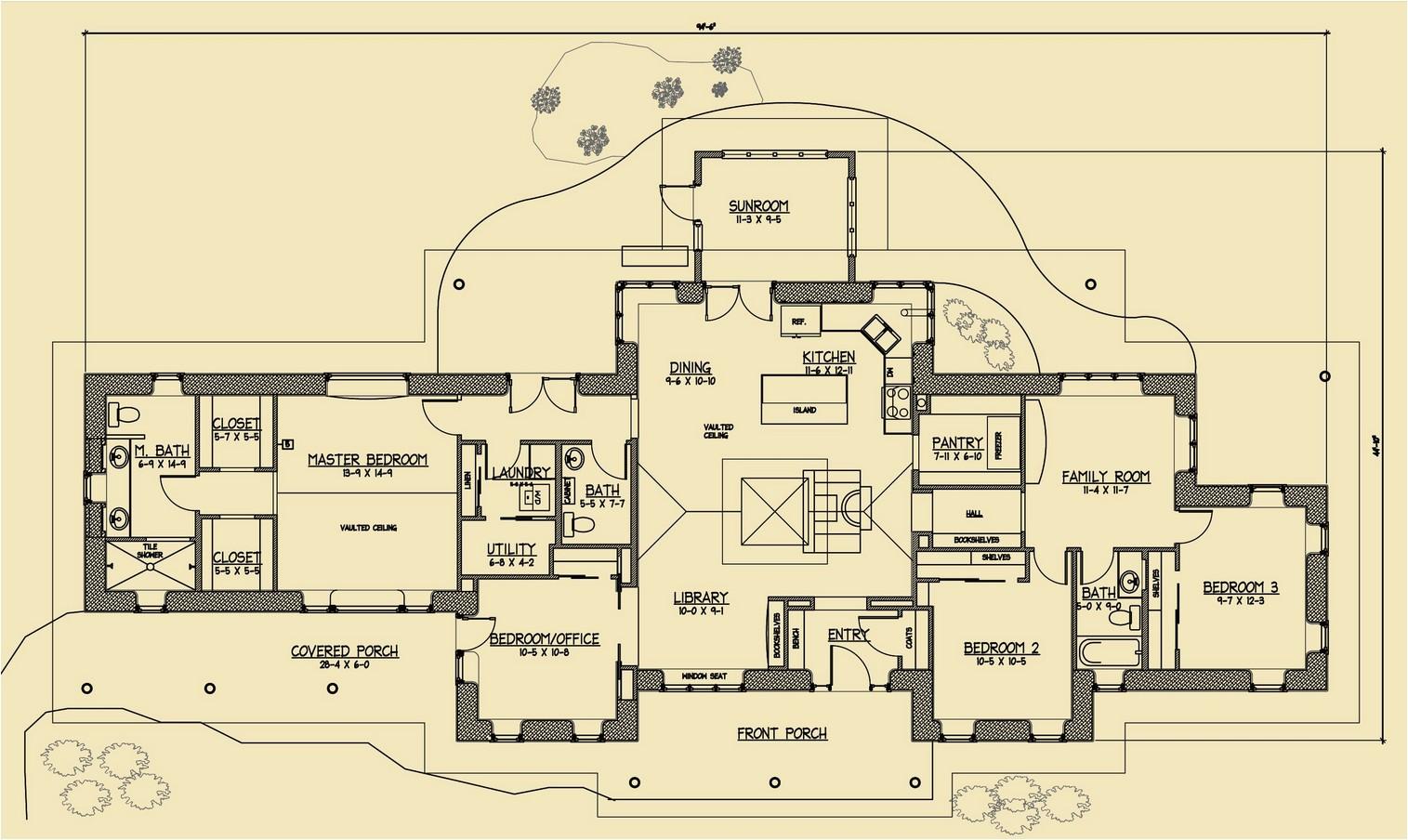 Strawbale Home Plans Rustic Family Straw Bale Plans Strawbale Com