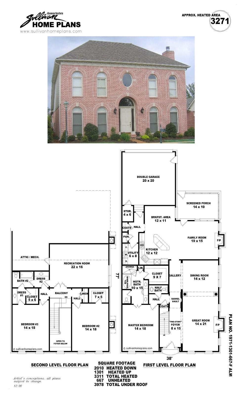 Sullivan Home Plans B1971 1301 667 F Jpg Sullivan Home Plans