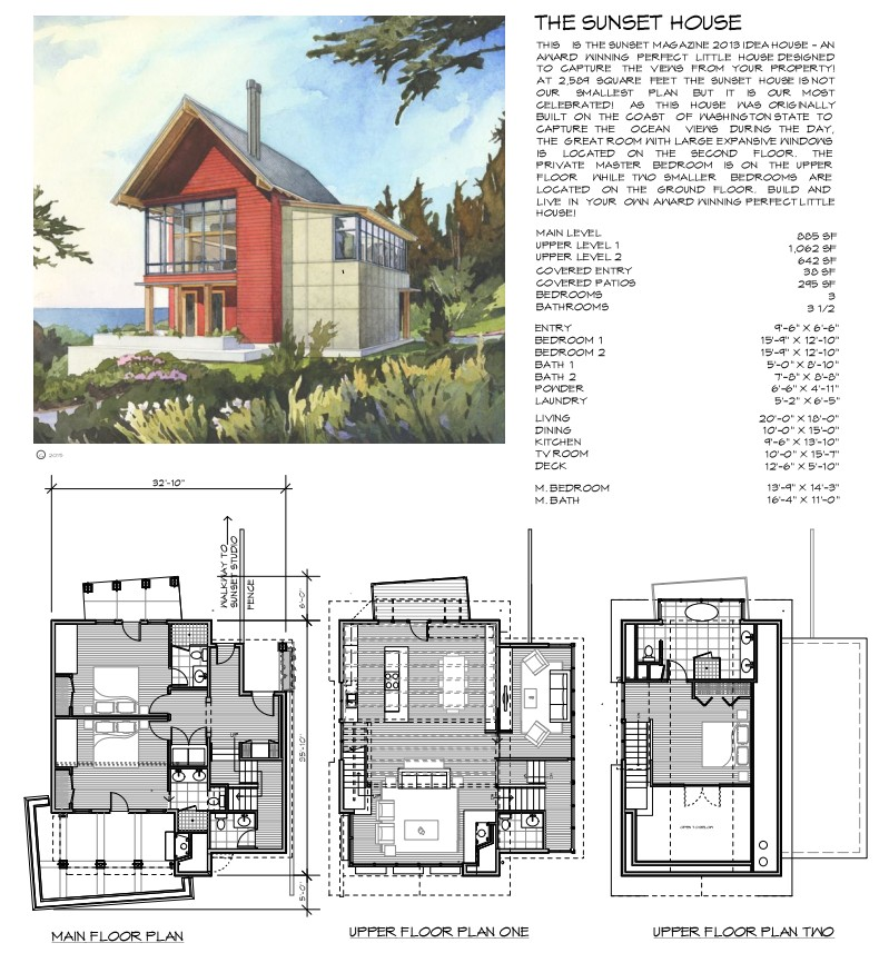sunset magazine home plans