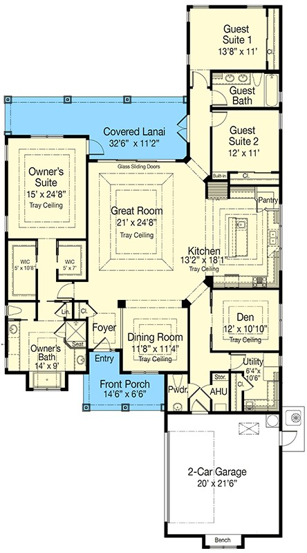 southern house plan 33027zr