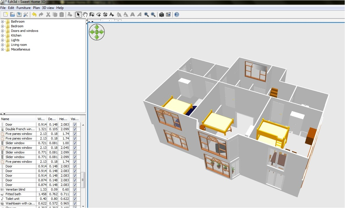 free floor plan software sweethome3d review