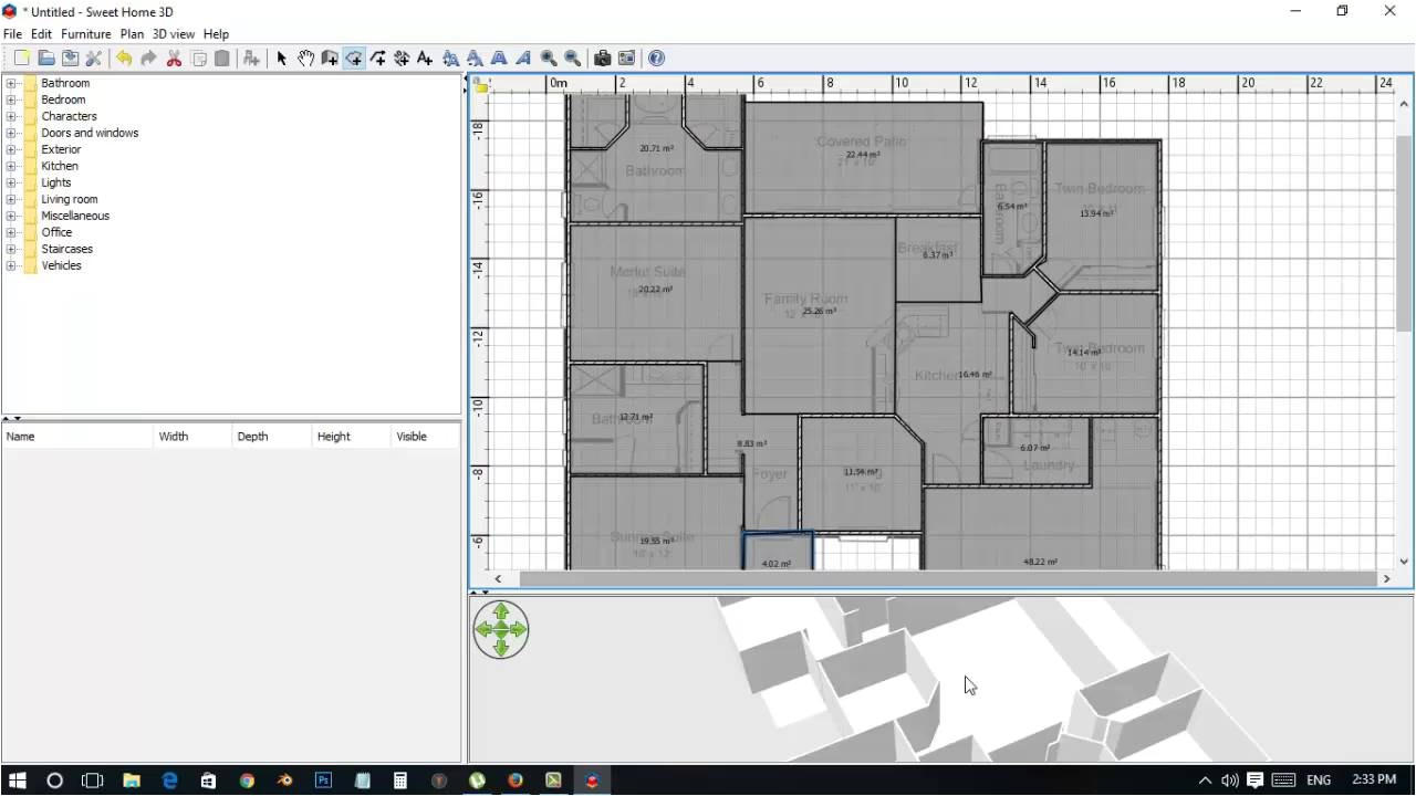 how to make floor plan in sweet home 3d