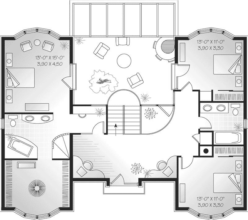 symmetrical european house plans
