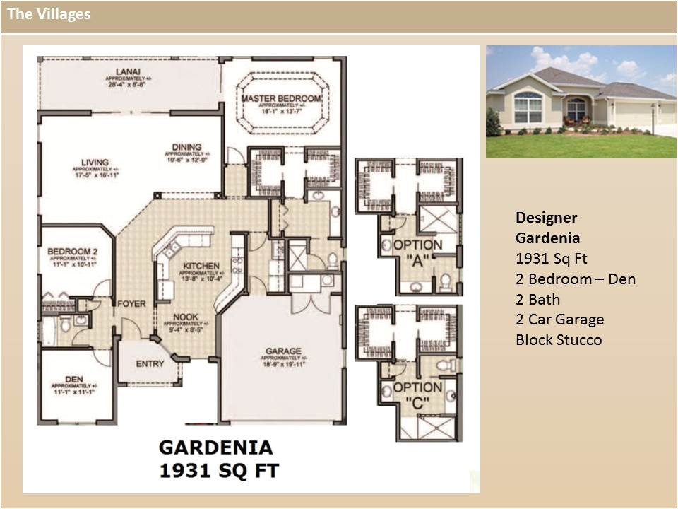 the villages designer floor plans