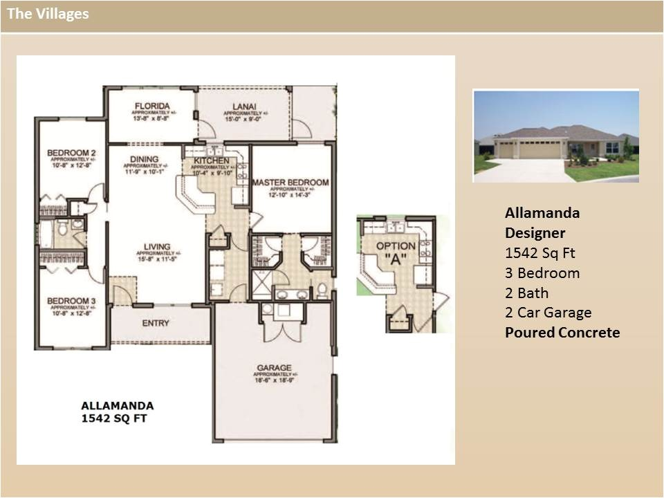 floor plans of homes in the villages fl