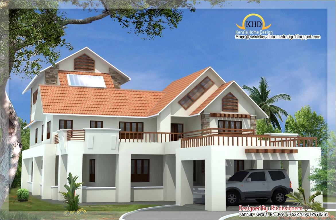 beautiful luxury 3 story home elevation
