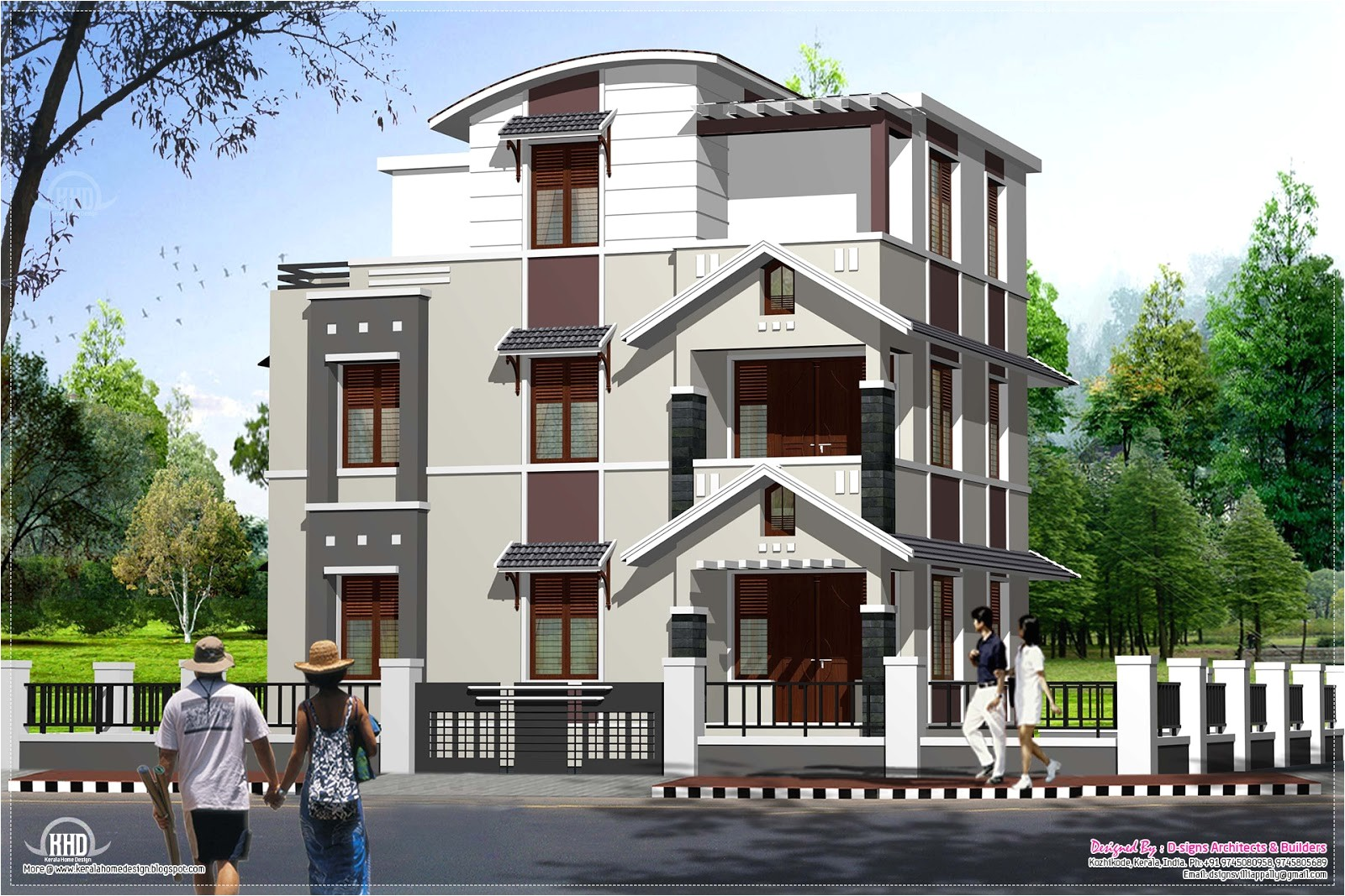 modern house design for three storied