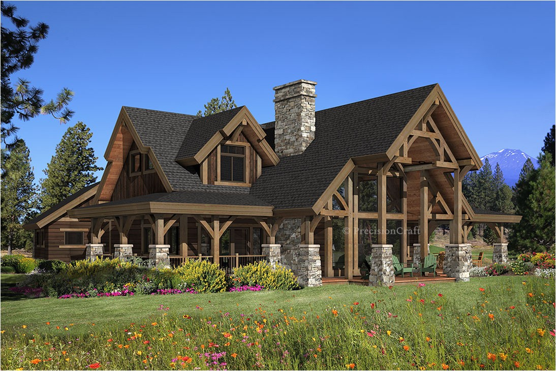 hawksbury timber home plan precisioncraft log timber frame homes