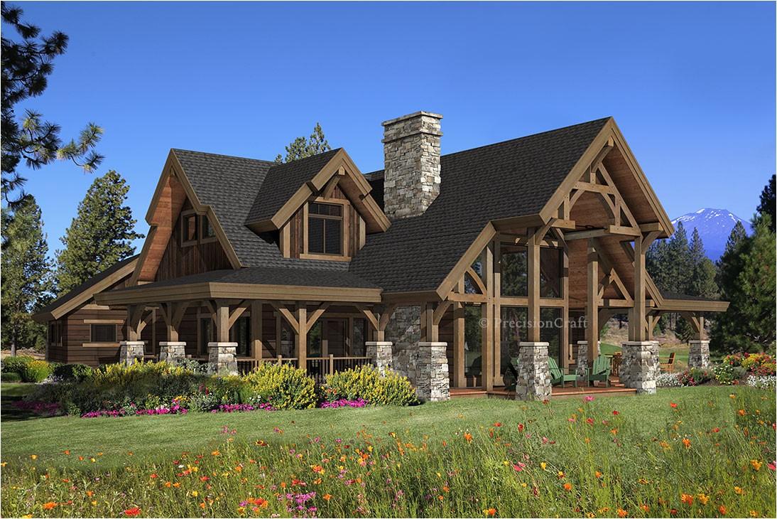 hawksbury timber home plan precisioncraft log timber frame homes