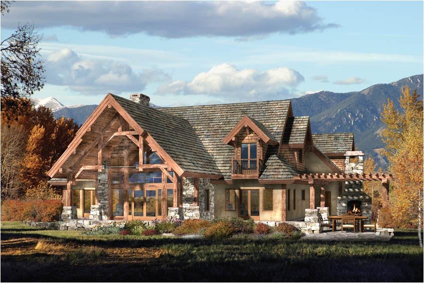 timber log home plans timberframe