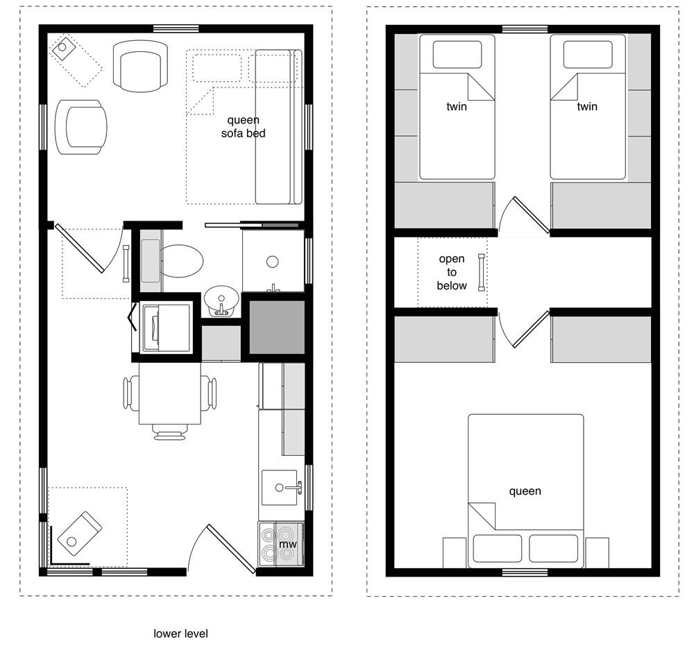 16 x 20 tiny house