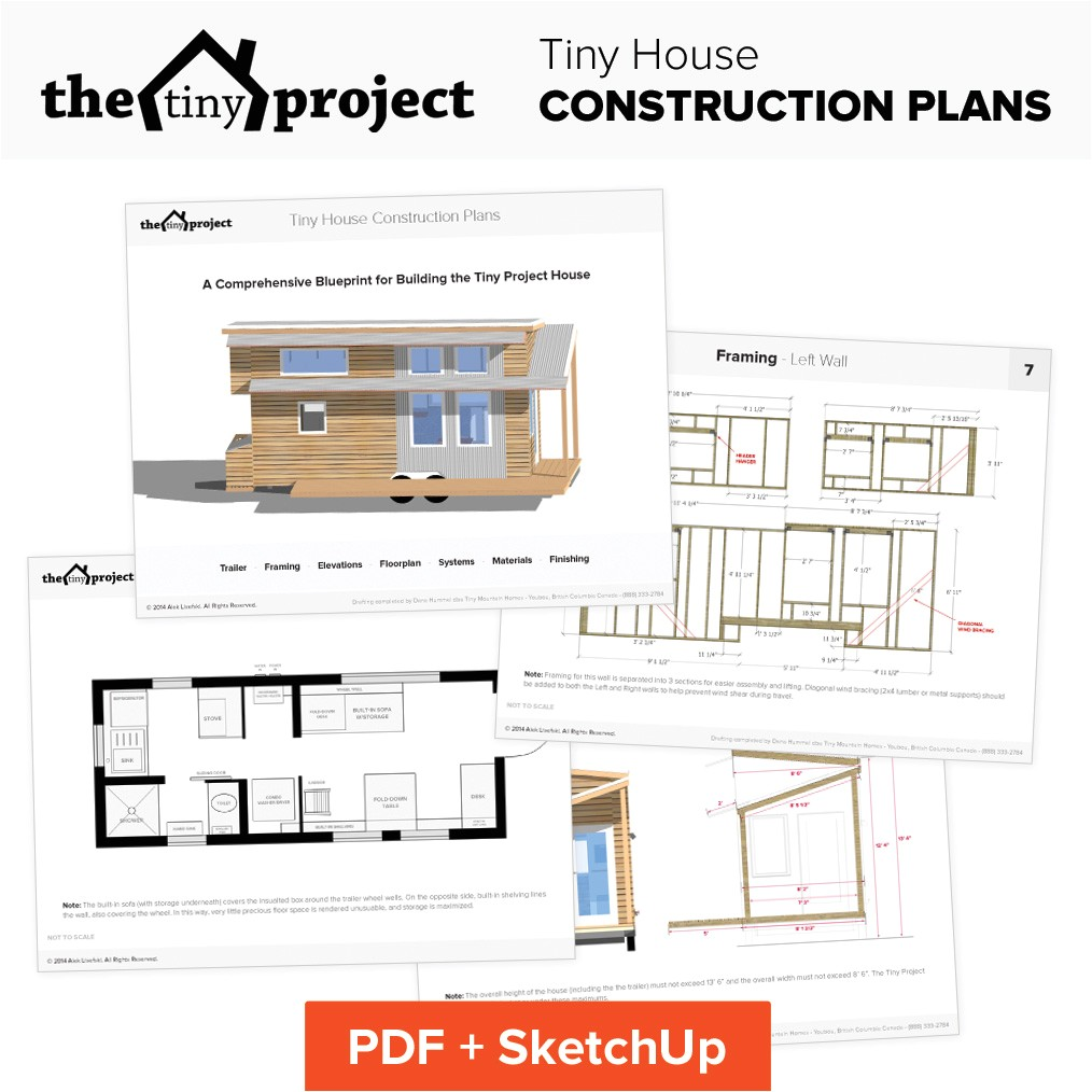 Tiny Home Floor Plans Tiny House On Wheels Floor Plans Blueprint for Construction