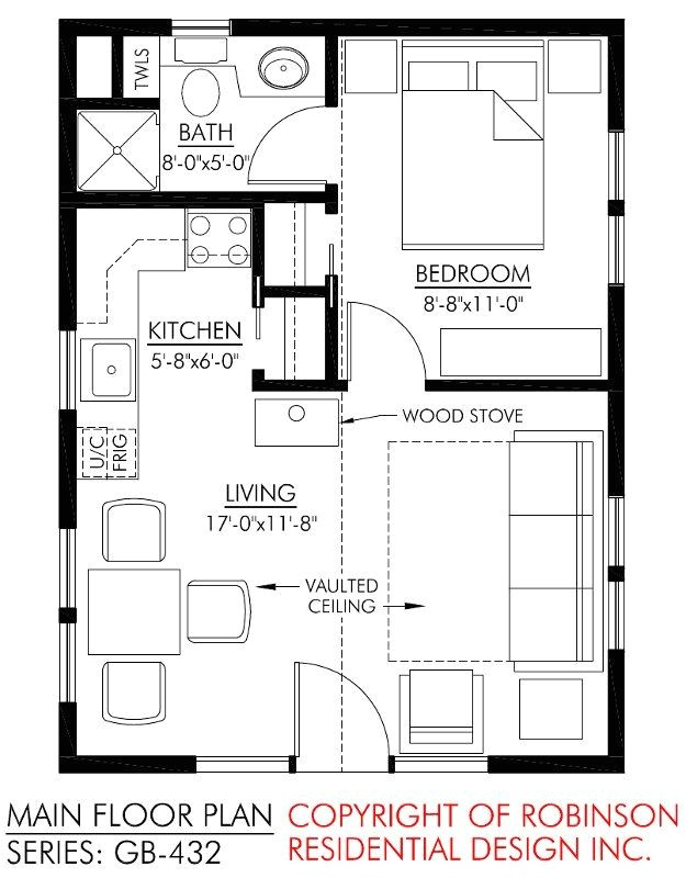 small cottage floor plan