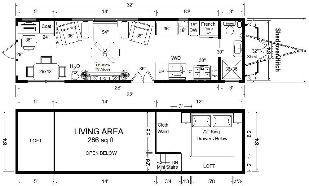 Tiny Homes On Wheels Floor Plans Tiny House Floor Plans 32 39 Tiny Home On Wheels Design