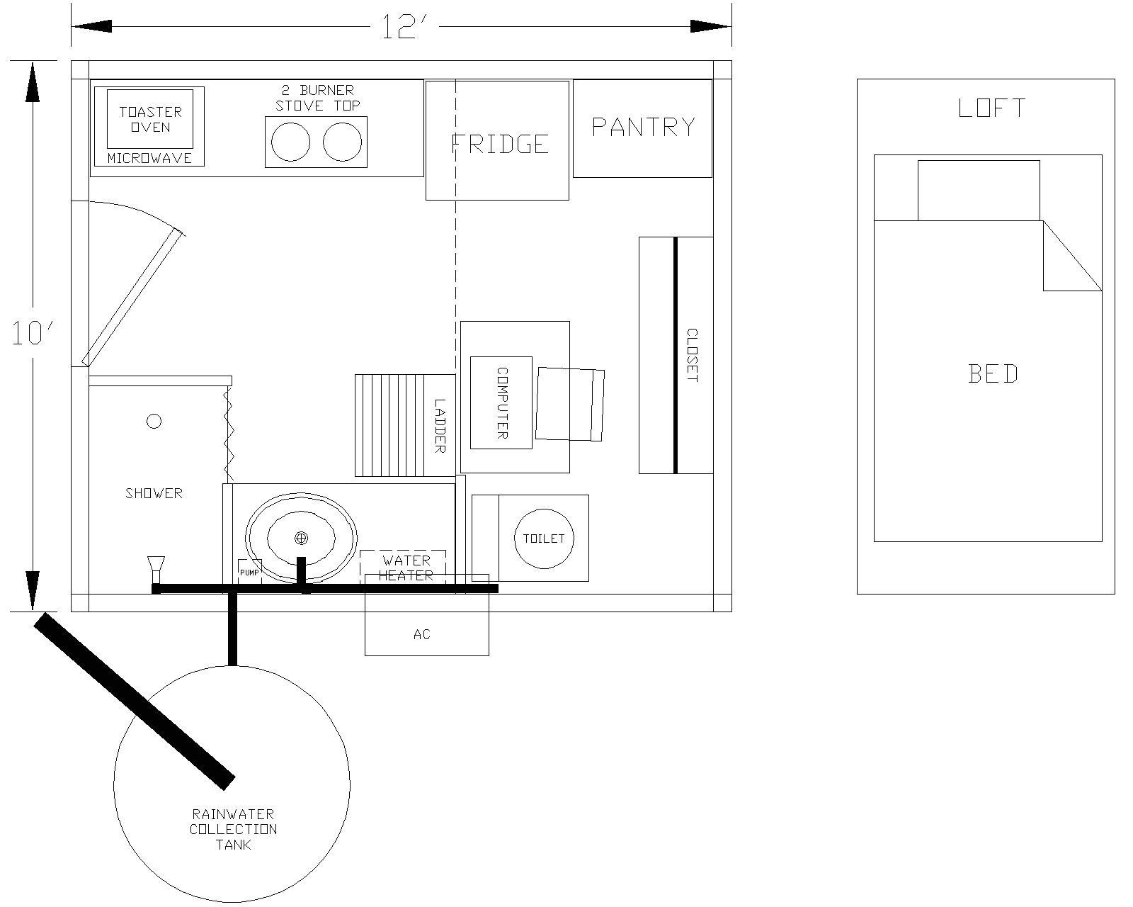 tiny house 10x12