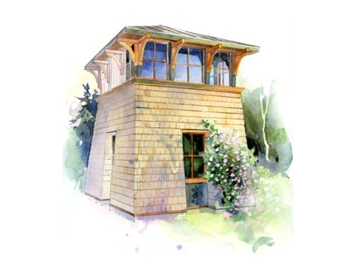 tower studio small house plans