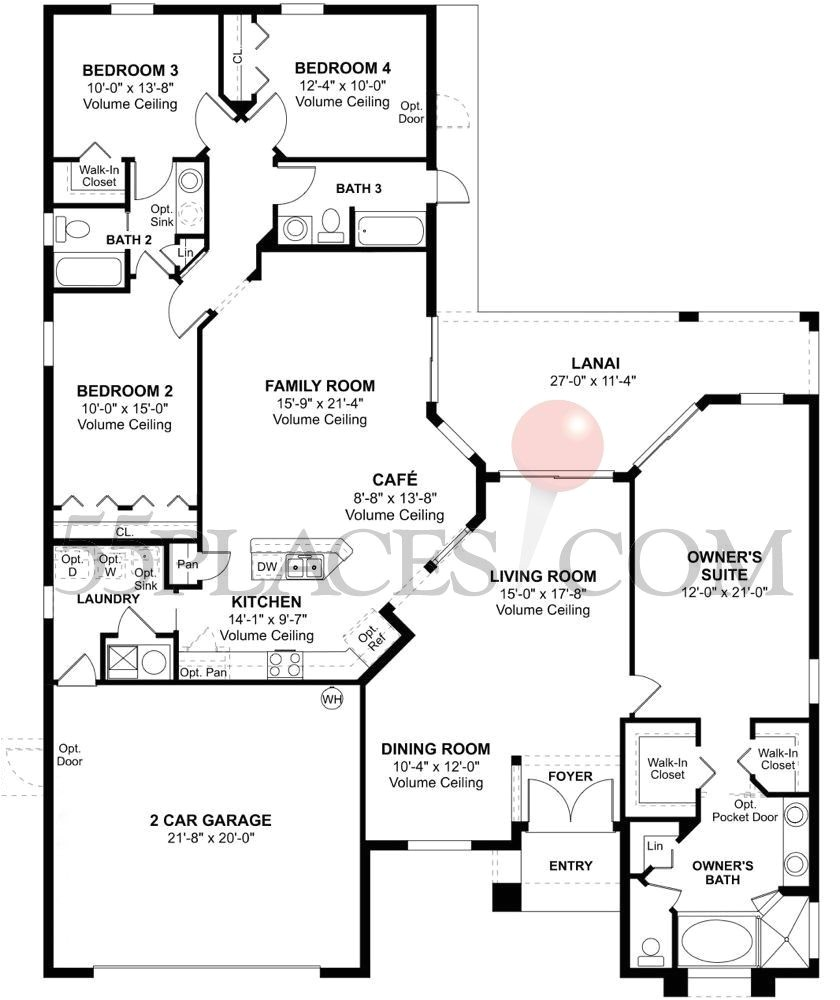 transeastern homes floor plans awesome martinique floorplan 2294 sq ft tampa bay golf and country