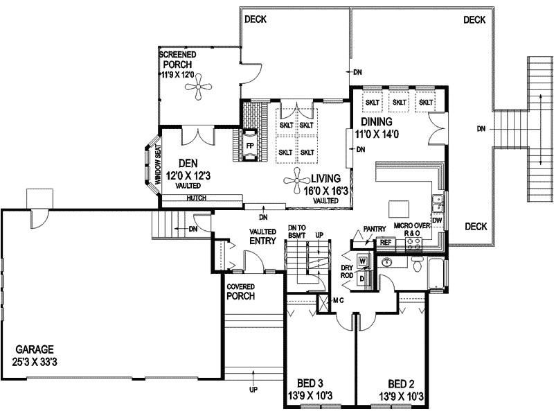 tri level home plans