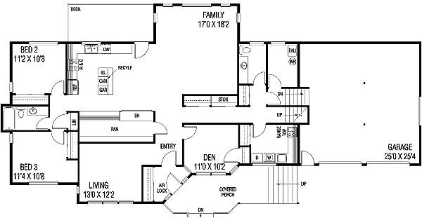 contemporary tri level home 7896ld